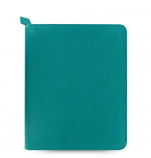 Saffiano Zip iPad 2/3/4 Tablet Case Aquamarine