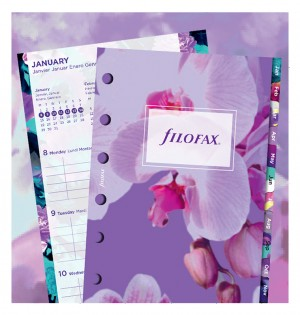 Floral Illustrated Diary Refill Pack Pocket