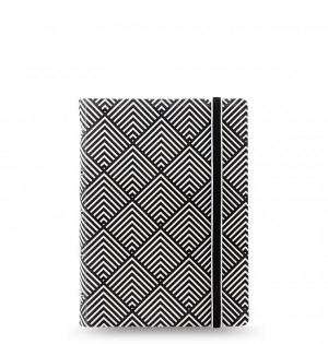 Filofax Notebook Impressions Pocket Black/White Deco