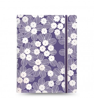 Filofax Notebook Impressions A5 Purple/White