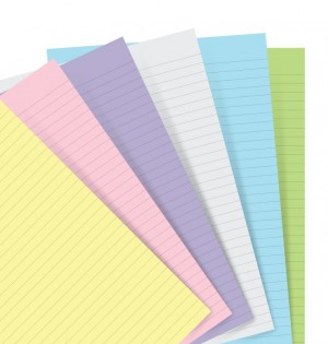 Filofax Notebook Pocket Pastel Ruled Paper Refill