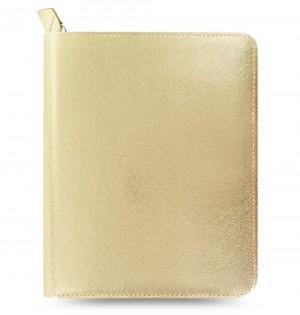 eniTAB360 Large Universal Tablet Case - Saffiano Zip Gold