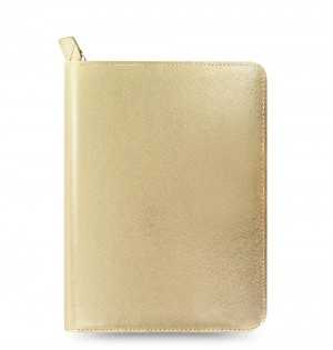 eniTAB360 Small Universal Tablet Case - Saffiano Zip Gold