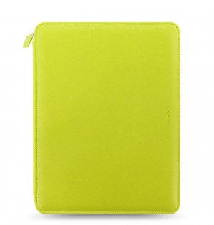 Saffiano A4 Zip Folio Pear