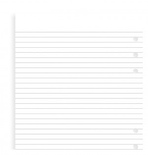 White Ruled Notepad A5 Refill