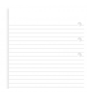 White Ruled Notepad Personal Refill